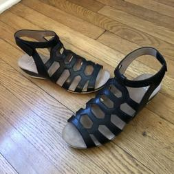 deac995cfb3f Editorial Pick Dansko 39 Valentina Wedge Sandals Black Leather