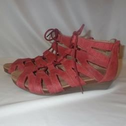 8 5 w sandals gladiator leather wedge