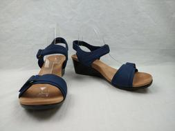 Vionic Adelaide Blueberry Ankle Strap Wedge Sandals Women's