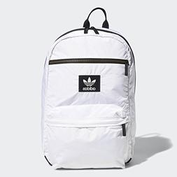 adidas Originals National Plus Backpack, White, One Size