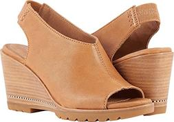 SOREL Womens After Hours Slingback Wedge Sandal, V-Camel Bro
