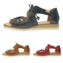 Pikolinos Alcudia W1L-0917 Leather Casual Lace-Up Wedges Wom