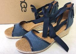 UGG Australia Amell Marino Blue Wedge Sandal Women's Sizes 7