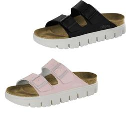 BIRKENSTOCK PAPILLIO ARIZONA CHUNKY BLACK ROSE WOMEN'S SANDA