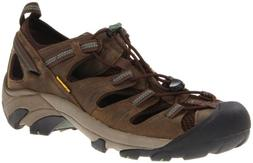 KEEN Men's Arroyo II Hiking Sandal,Slate Black/Bronze Green,