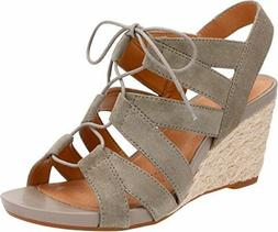3cd2b5857a2 Clarks Artisan Acina Chester Wedge Sandals Green Suede 26126