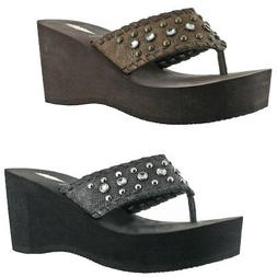 Volatile Billyray Women's Studded Metallic Slip On Platform