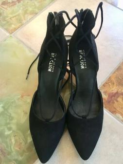 Kenneth Cole Black Ankle Wrap Wedge- New- Retail For 119$ Wo