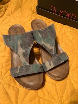 Corkys BOUTIQUE Lilo Camo WEDGE Sandals Womens Size 8 NEW WI