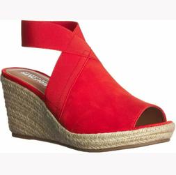 Kenneth Cole Reaction Carrie Red Women's Espadrilles Wedge S