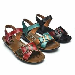 Casual Genuine Leather Sandals Women Wedge Sandals Platform