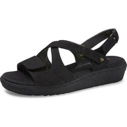Grasshoppers Cherry Vulc Wedge Sandals Black Women's Casual