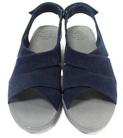 CLOUDSTEPPERS by Clarks Wedge Sandals Caddell Bright Navy