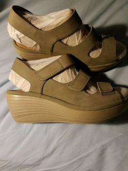 Clarks Collection Soft Cushion Reedly Juno Wedge Heel Sandal