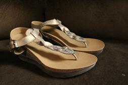 Corky's Hipster Bronzed Gold Wedge Sandals - Size 10 **NEW W