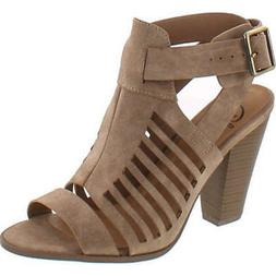 Delicious by Soda Yummy Cutout Stacked Heel Sandal