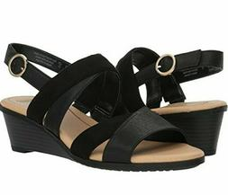 Dr. Scholl's Grace Wedge Sandals Women's Open Toe Black Casu