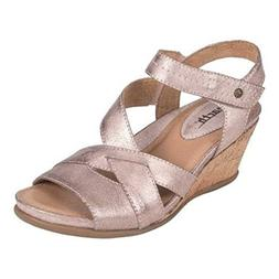 Earth Women's, Thistle Wedge Heel Sandals Pink 9 M