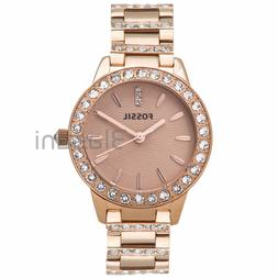 Fossil Women's 'Jesse' Quartz Stainless Steel Dress Watch, C