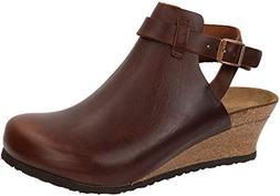 Birkenstock Women's Esra Cognac Leather Clog 38