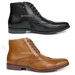 Fashion Mens Oxfords Wingtip Ankle Boots Dress Casual Shoes