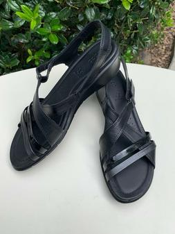 Ecco Felicia Wedge Women's Black/Black Sandals 9-9.5 US / 40