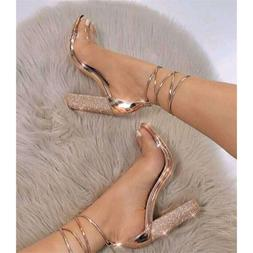 Flock High Heels Summer Style <font><b>Sandals</b></font> Se