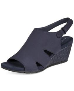 Bandolino Galedale Wedge Sandals Navy 10M NEW IN BOX  *b/95