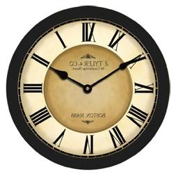 The Big Clock Store Galway Black Wall Clock, Available in 8