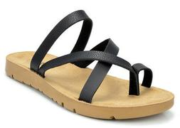 DREAM PAIRS GREEK-03 Women Platform Wedge Strap flip flop Su