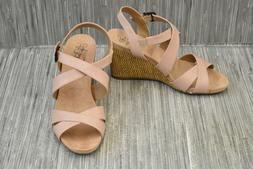 harbor faux leather wedge sandals women s