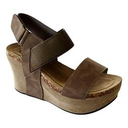Pierre Dumas Hester-13 Women's Strappy Rounded-Toe Wedge San