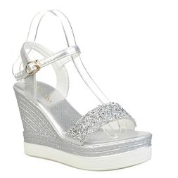 high heels <font><b>sandals</b></font> women shinning glitte