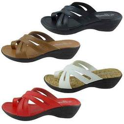 HOPE-09 New Womens Sets Of Toe Sandals Wedge Shoes Low Heels