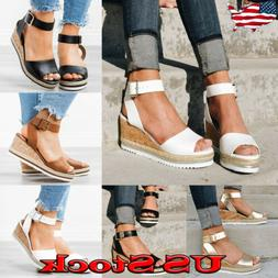 Hot Summer Women's Wedge Sandals Peep Toe Platform Casual Sa
