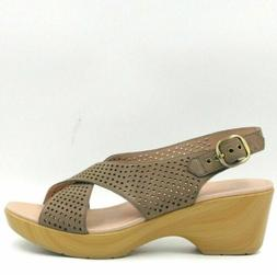Dansko Jacinda Women Perforated Slingback Sandals Size US 11