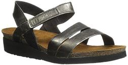 Naot Women's Kayla Wedge Sandal, Metal Leather, 42 EU/11 M U