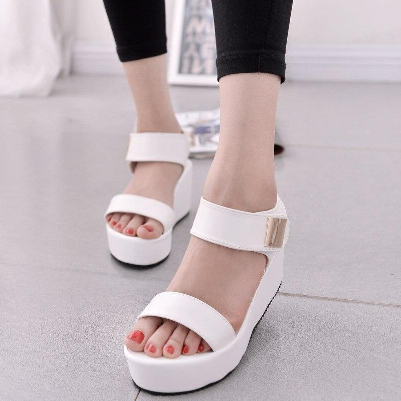2018 New Gladiator Shoes <font><b>Sandals</b></font> Women Peep-toe Shoes Woman Sandalias Sandalias