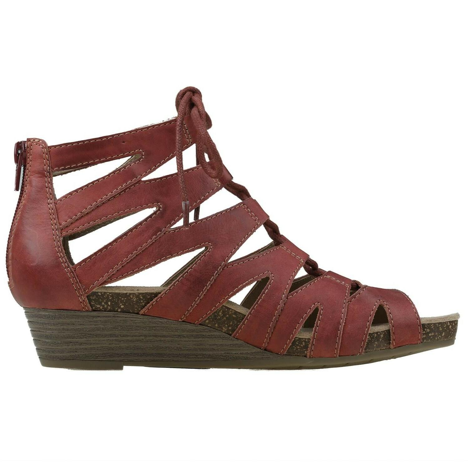 Earth Sandals Leather Lace Wide Women's