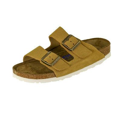 arizona soft footbed suede leather sandals