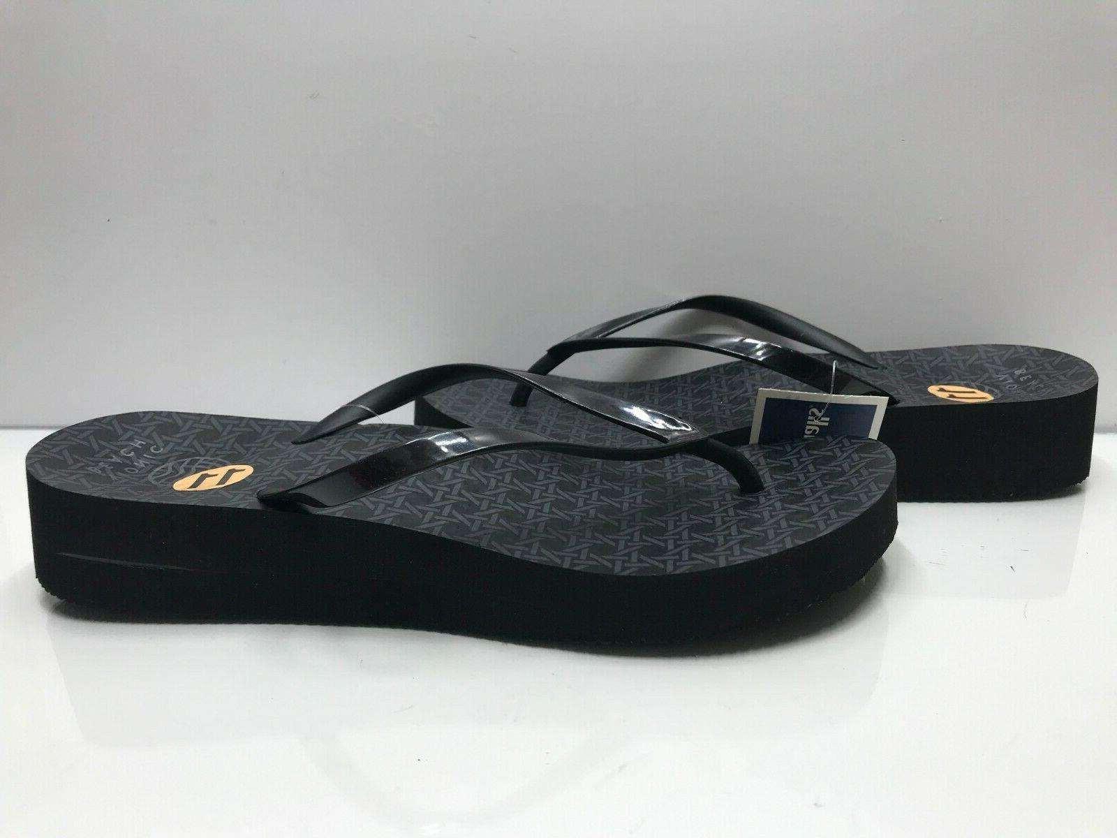 beach size 11 women s black wedge