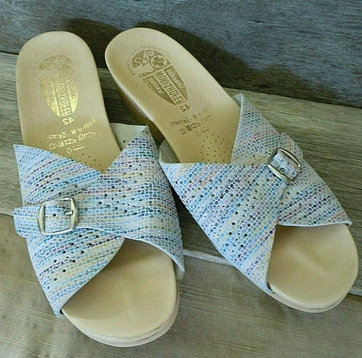 Beautiful Leather Sandals Pastel