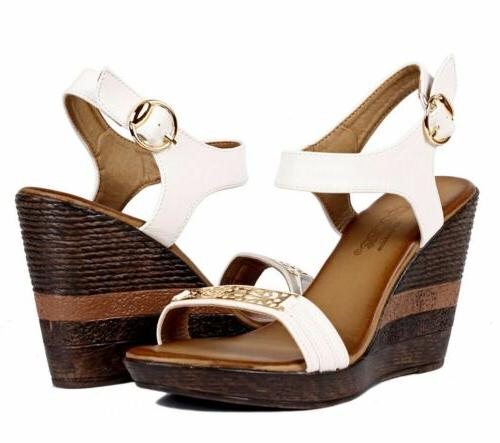 "Beige Color Slingback Sandals Womens 4"" Heels 9"