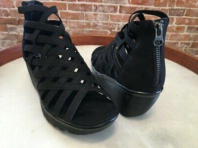 Skechers Black Caged Parallel Sandals New
