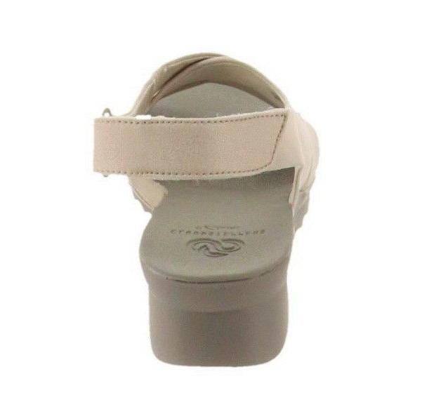 CLOUDSTEPPERS by Caddell Bright Wedge 7.5M Pearl White