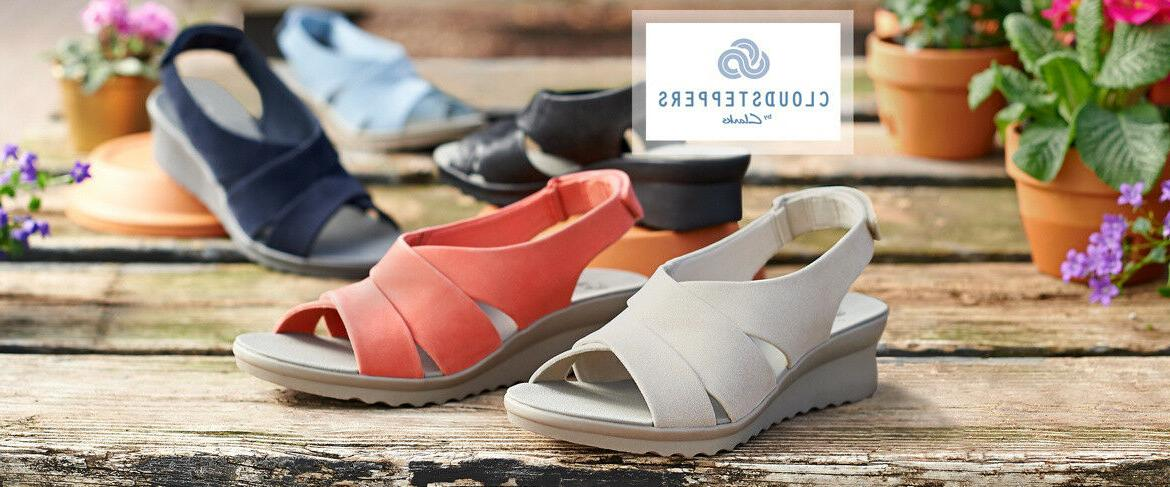cloudsteppers by caddell bright wedge sandals
