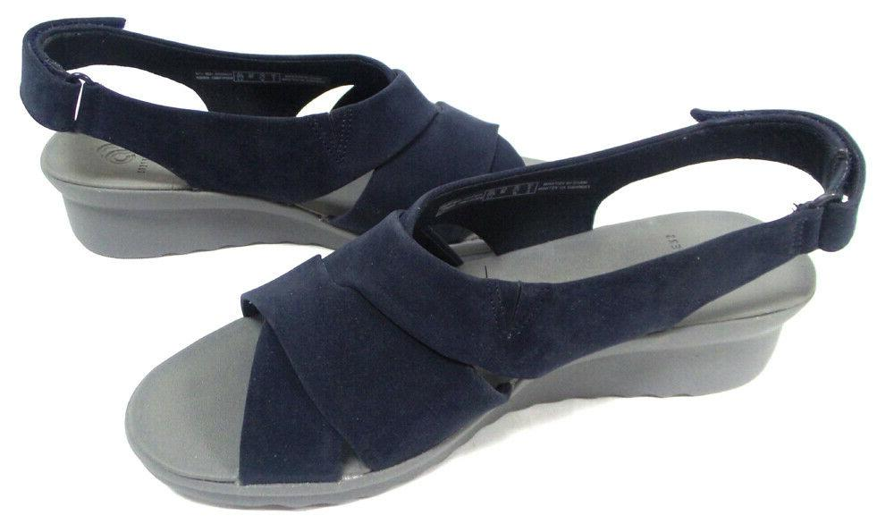 CLOUDSTEPPERS by Sandals Caddell Navy