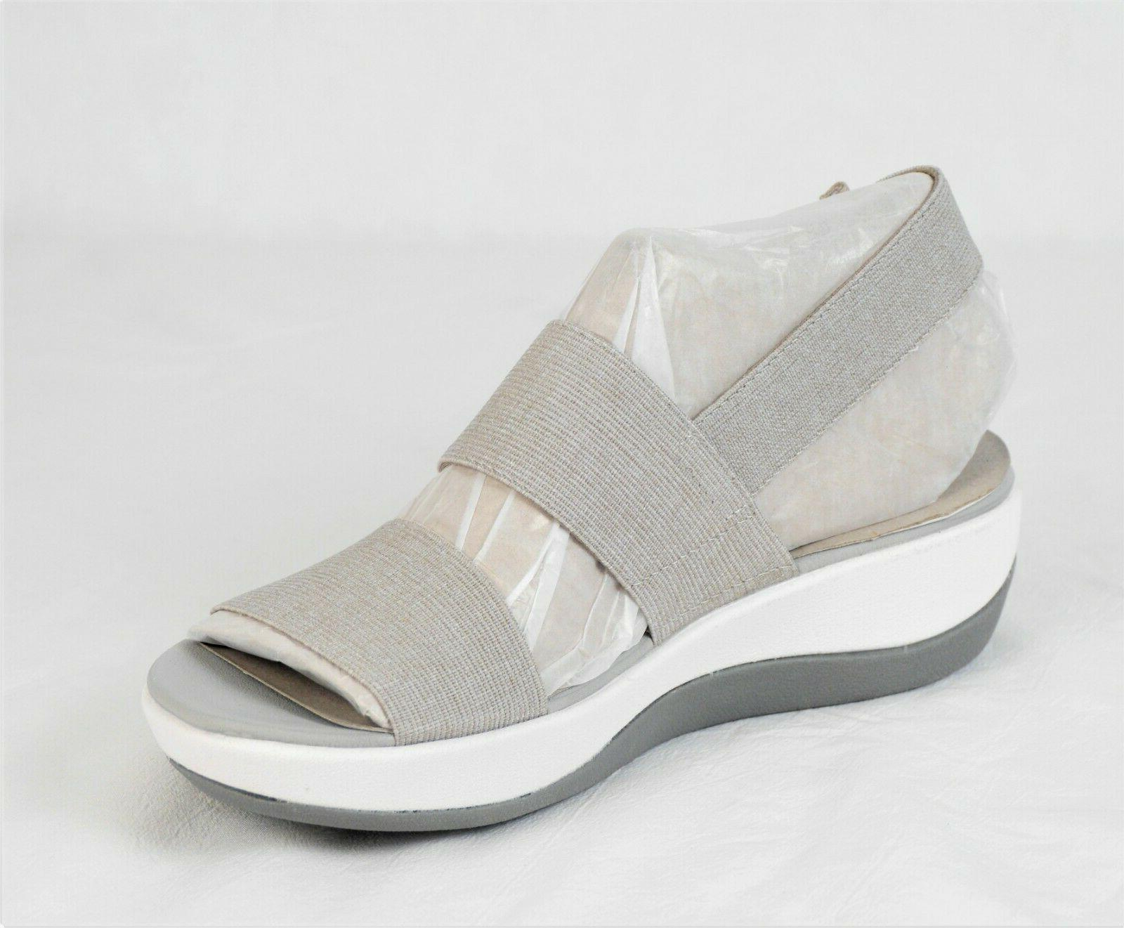 Cloudsteppers CLARKS Wedge Sand NEW