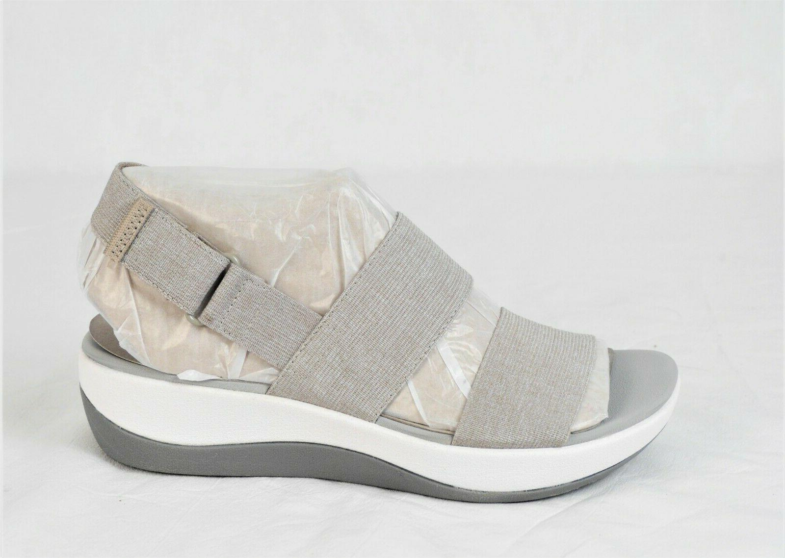Cloudsteppers CLARKS Womens Wedge Arla Sand Heather