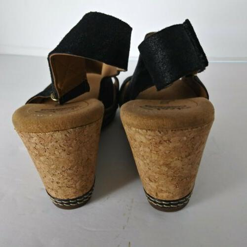 Clarks Womans Cushion Black Wedge back